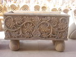 Rectangle Carved Planter
