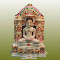 Marble Swaminarayan Statue Marble Vishnu Statue