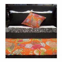 Tropicana Handmade Fruit Print Kantha Quilts
