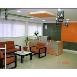 Antique Orange Waiting Room Sofa Set, for Office
