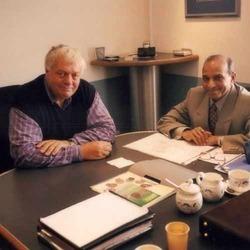 L. D. Patel With President Herbert In UK