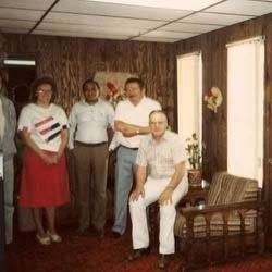 L.D. Patel With President Forsberg