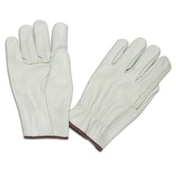 Beige Grain Driving Gloves