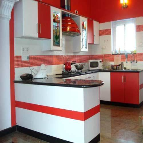 Indian Kitchens Modular Kitchens: U Shape Designer Modular Kitchen, Rs 50000 /piece, Living