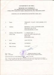 IEC Registraton Certificate