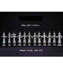 Silver Plated Doll Set