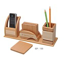 Desktop with Pen And Mobile Holder
