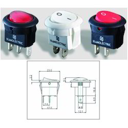 Round Rocker Switches