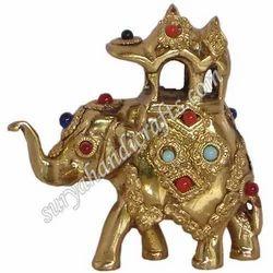 Brass Ambabadi Elephant