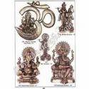 Brass Om Ganesh Wall Plate