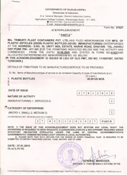 SSI Registration Certificate
