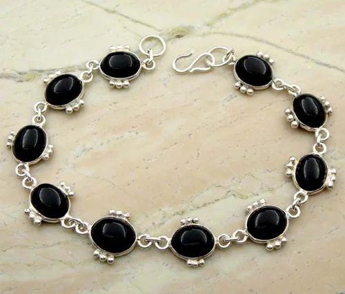 Black Onyx Silver Bracelet