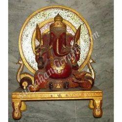 Meena Painting Chowki Ganesha