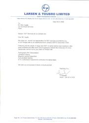 Certificate by L & T 4