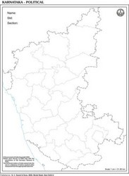 Karnataka Outline For State Map