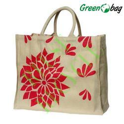 White Printed Canvas Tote Bags