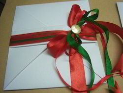 Fancy Envelopes With Ribbon Ties For Wedding Invites