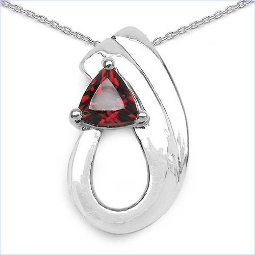 050ctw genuine garnet 925 sterling silver pendant johareez 050ctw genuine garnet 925 sterling silver pendant aloadofball Image collections