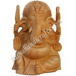 Wooden Ganesha With Fine Work