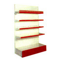 Wall Shelving Unit With Back Panel