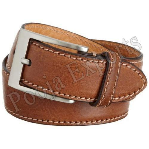 Pooja Exports Men''s Leather Belts, Packaging Type: Box