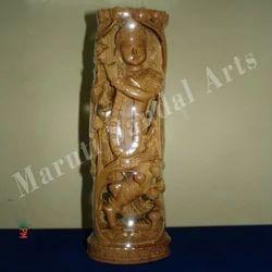 Sandalwood Lotus Bud Krishna