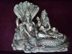 Brass Made Laxmi Narayan Murti Religious Idol