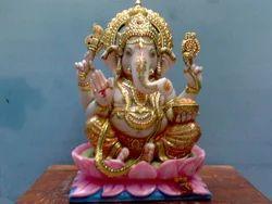 GA-4036 Ganapathi Marble Statue