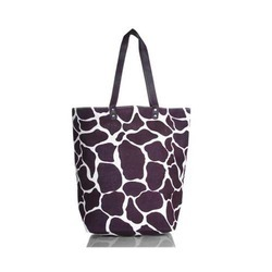 Animal Print Jute Fashion Bag