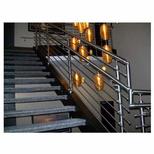 Panel Silver Stainless Steel Stair Railing Rs 199 Meter Id