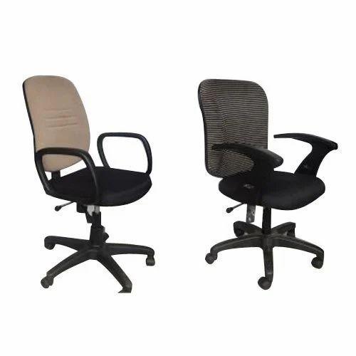 Arm Less Blue Rotatable Office Chair