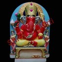 Red Marble Ganesha Statue