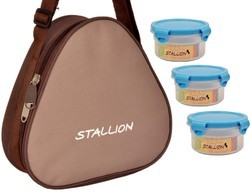 Stallion Insulated Carry Pouch Microwave Safe Tiffin, Size: 600ML