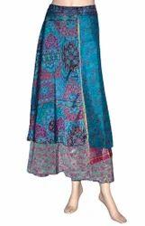 Silk Wrap Skirts, Size: Large