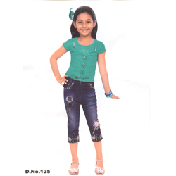 Denim Capri & Tops - Top With Jeans Denim Capri Manufacturer from ...