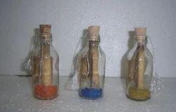 Wedding Cardboard Empty Bottles In Glass, Size: 3