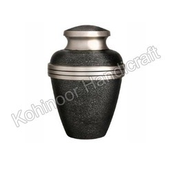 Heavy Duty Silver Metal Urn