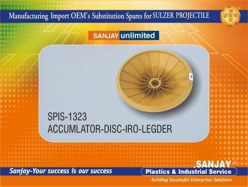 Weft Feeder Accumulator Spares Winding Disc IRO - Sanjay Plastics