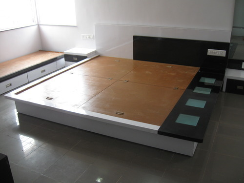 Modern Wooden Bed - View Specifications  Details of Beds by Shree