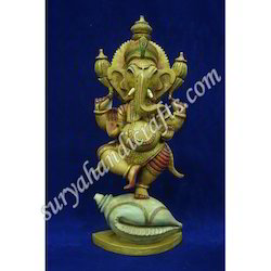 Wooden Painting Ganesh Standing