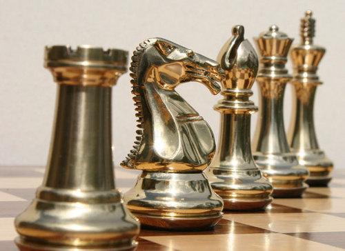 Fancy Chess Set With Golden Silver Pieces At Rs 350