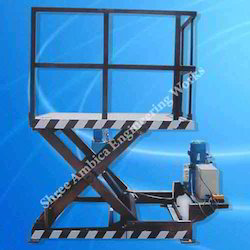 Hydraulic Scissors Lift Table With Railing