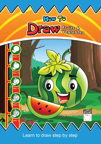 How To Draw Fruits Vegetables At Rs 75 Piece Kids Books Apple