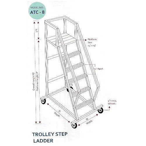 Trolly Step Ladder, Aluminum Grills & Aluminum Ladders