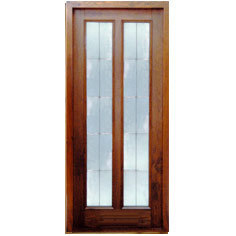 Glass & Wood Panel Door at Rs 701 /square feet | Wooden Glass Door ...