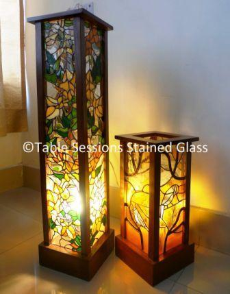 Attractive Lamps Tiffany Sessions Glass Stained Table sChrtQd