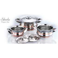 Copper Bottom Cook Serve Set