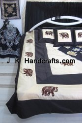 Ethnic Designer Embroidered King Size Bed Spread/Tapestry