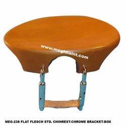 Flat Flesch Chrome Bracket Chinrest