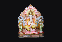 GA-4041 Ganesh Statue With Ridhi Sidhi